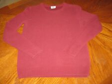 LACOSTE Pullover Sweater XS Size 3 Maroon Burgundy Shirt Men's Long Sleeve