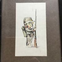 After Mabel Lucie Attwell Watercolour Painting Child Dressed As A Soldier 1926