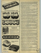 1979 PAPER AD 2 Pg Guitar Shaun Cassidy Kiss Record Player Bee Gees Strobe