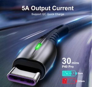 5A 2m USB Type C Cable Micro USB Fast Charging Mobile Phone Android Charger Type