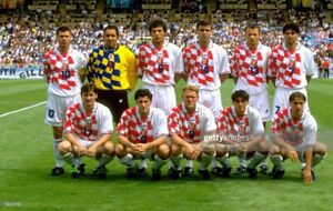 Match worn shorts Croatia / World cup France 1998 .