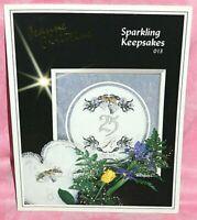 Jeanne Christine Sparkling Keepsakes Cross Stitch Chart 25th 50th Anniversary