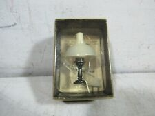 Vintage 1970's Antique Style Dollhouse Brass Table Lamp 12 Volt NOS 1:12