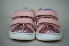 MOSCHINO BABY GIRLS PINK GLITTER TRAINERS EU 24 UK 7 US 8
