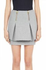 Cotton Blend Mini Solid Skirts for Women