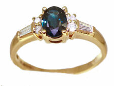 0.95ct Sapphire & Diamond Ring in 14K Yellow Gold