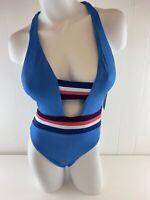 NWT Becca Women's Blue Revine One-Piece Swimsuit  Size M