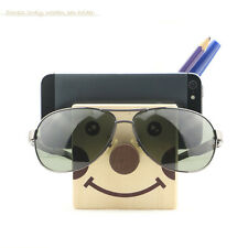 Lovely Face Wooden Pen Holder -Simple Style Pen /Phone Container /Desk Organizer