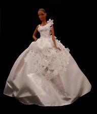 DRESS MATTEL BARBIE DOLL MODEL MUSE SNOWFLAKE EVENING GOWN