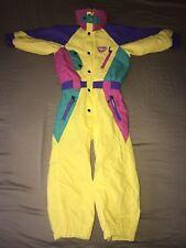 Retro 80s Jumpsuit Vintage Child's Snow Suit Styl France One Piece Cool Rare