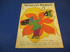 Womans World Magazine October 1939 Painting Flowers Cover Art by Maginel Barney