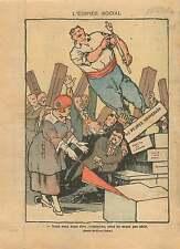 Caricature Bloc des Gauches Franc-Maçons Socialistes Marianne 1919 ILLUSTRATION