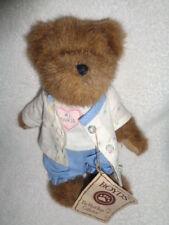 "Bear Boyds #1 Nurse Trueheart 8"" plush jointed brown teddy blue scrubs 903075"