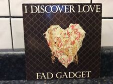 "FAD GADGET I discover love UK 1983 7"" PS great synthpop @@LOOK@@"