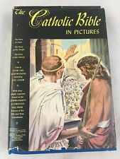 Catholic Bible In Pictures Greystone 1956 Hardcover Dust Jacket