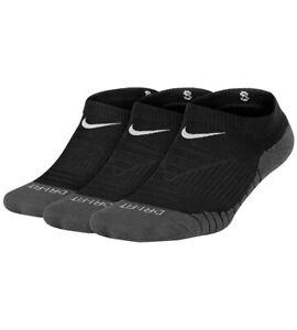Nike Kids Youth Black No Show Athletic Socks Dry Cushion Medium M 5Y-7Y