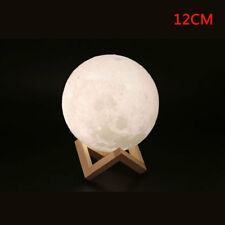 Dimmable 3d Magical Moon Lamp USB LED Night Light Moonlight Gift Touch Sensor 12cm