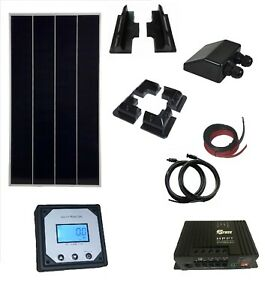 200W 180w solar panel kit 20A charger MPPT controller with remote LCD motorhome