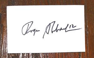Roger Staubach Autographed 3x5 Card **Dallas Cowboys Legend**