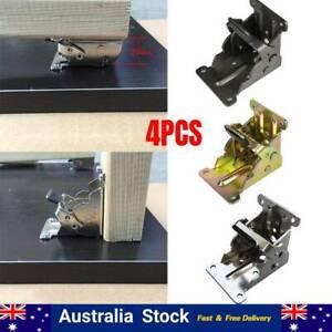 4Pcs Folding Table Leg Brackets Fittings Self Lock Extension Foldable Hinge AU