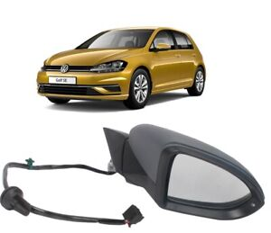 VW GOLF VII MK7 2013 - 2018 WING MIRROR ELECTRIC PRIMED RIGHT O/S 5G0857538C