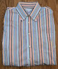 Maus & Hoffman Multi Color Stripe Long Sleeve Button Down Shirt-Size XL