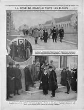 Élisabeth Reine de Belgique Hôpital de Zuydcoote Front de Dixmude War 1916 WWI