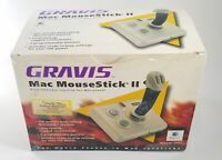 VINTAGE Gravis Mousestick II Programmable Joystick ADB Mac + Disk + Manual + Box