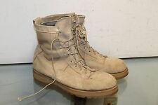 Wellco Army Combat Boots 12 W Desert Sand Suede Leather