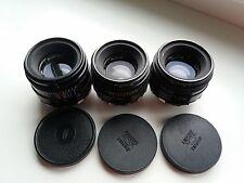Helios 44 and Helios 44-2 Zebra Soviet lenses 3 pcs LOT M39 M42