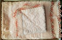 3 pc Set Vintage CANNON PINK Bath Towel, Hand Towel Plus Wash Cloth Made in USA