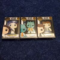 Funko Pop Pins Star Wars Lot Leia, Han Solo, Greedo