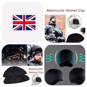 2Moisture Wicking Cooling Skull Cap Inner Liner Helmet Beanie Dome Cap Sweatband