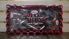 Bell Mega Metal Chain Blue/Red Anodized Die-Cast Metal License Plate Frame