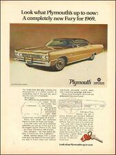 1968 Muscle Car Ad '68 PLYMOUTH FURY gold 2dr Hardtop 060217)