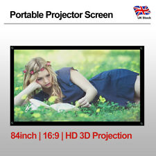 84'' 16:9 Projector Screen Home Cinema Outdoor Indoor Backyard Movie Night Party