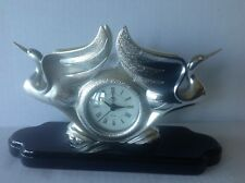 Vintage Ottaviani Sculpture Silver 800 Statue/Clock Made in Italy