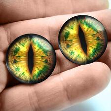 20mm Glass Eye Taxidermy Mossy Green Lizard Reptile Monster Eyeball Fantasy