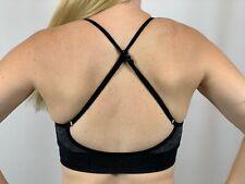 Sports Bra Adjustable Padded Crossback Yoga Workout Bra Size S,M,L/A,B,C