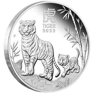 Australien - 1 Dollar 2022 - Jahr des Tigers (3.) - Lunar III. - 1 Oz Silber PP