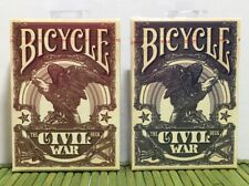 Civil War Red & Blue Deck Set Bicycle Playing Cards Poker Kings Wild Project New