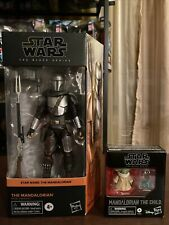 Star Wars Black Series Mandalorian Beskar Armor & The child Set New In hand