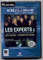 NEUF JEU PC DVD ROM LES EXPERTS CRIME SCENE ENQUETE  JEU ET MANUEL EN FRANCAIS