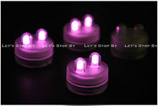 40 PINK SUPER Bright Dual LED Tea Light Submersible Floralyte Party Wedding