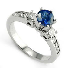 Ring Channel Prong Setting 14k 4.20 gr 1.10 Ct Sapphire .70 Ct G -Si1 Diamond