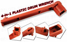 4-in-1 Plastic Drum Bung Wrench Tool Gas Shut Off *NEW*