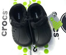 CROCS BLITZEN POLAR KIDS MAMMOTH FLEECE CLOG SHOES~Black~Kids C 8/9~NWT