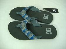New Mens 11 DC Shoes Habit Gray Blue Plaid Surf Beach Sandals $25