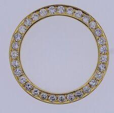 4 Ct White Diamond Bezel 14K YG For Rolex Datejust & Daydate 36mm Watch ASAAR