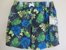 NEW Boy Infant 24 month 2T OCEAN PACIFIC Bathing Suit Swim Shorts Frogs Hawaiian